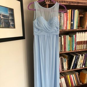 David's Bridal Ice Blue dress